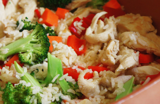 15 Minute Italian Chicken and Rice with Vegetables