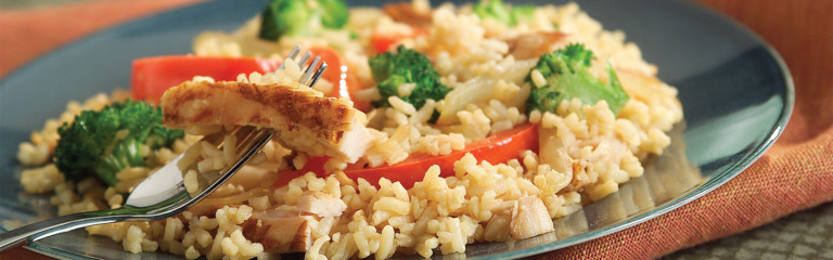 20 Minute Chicken and Rice Stir-Fry