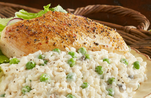 20 Minute Parmesan Chicken and Rice Dinner