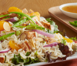 Asian Chicken and Rice Salad