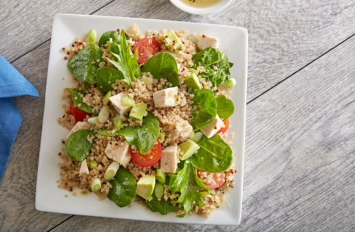 Avocado Chicken Power Salad with quinoa
