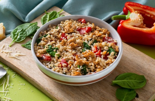 brown-rice-bowl-with-wild-rice-and-sausage