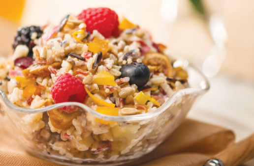 Breakfast Muesli with fruit and quinoa