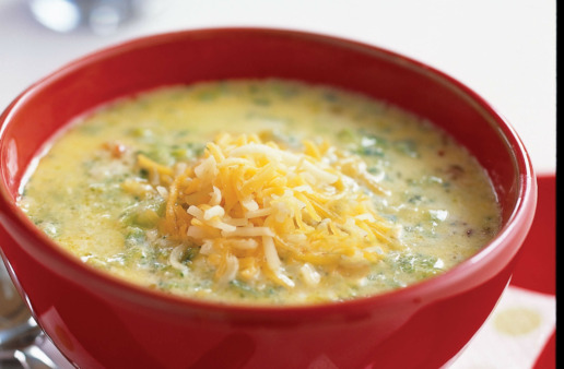 Broccoli Cheese and Rice Soup