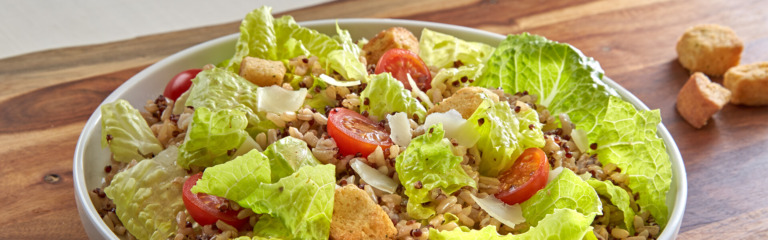 Caesar Salad with Rice and Quinoa