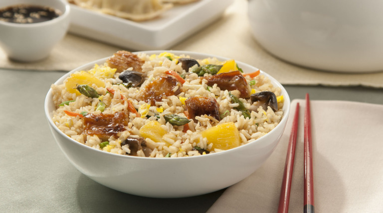 Chinese Stir-Fried Rice and Pineapple