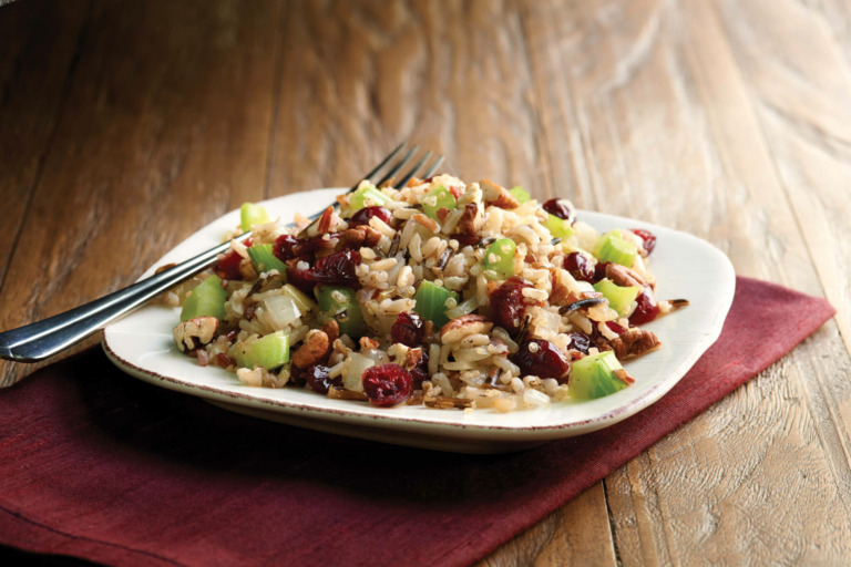 Cranberry Pecan Rice and Quinoa Stuffing