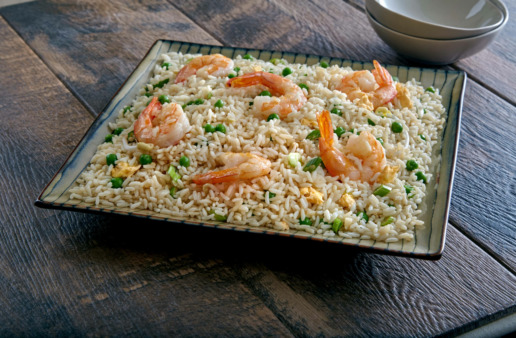 Easy Sesame Shrimp Fried Rice
