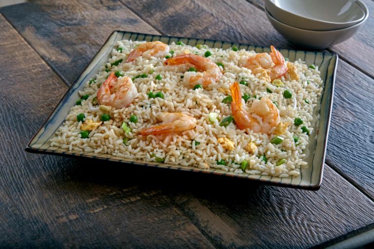 Easy Sesame Shrimp Fried Rice