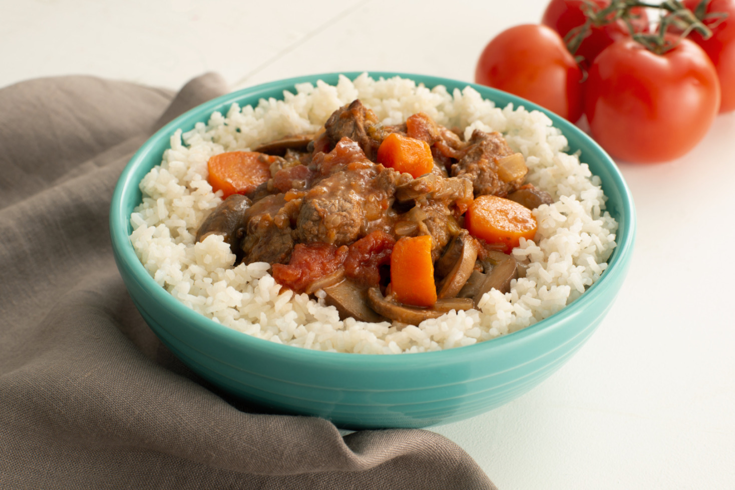 Easy Beef Stew with Rice