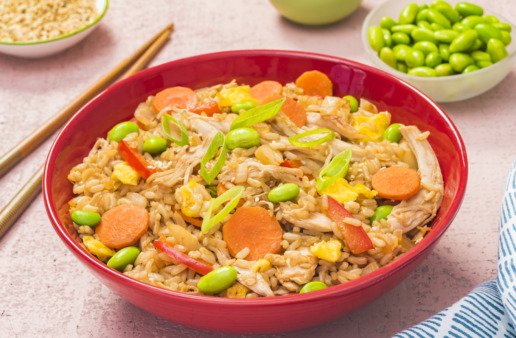 Easy-chicken-fried-rice-with-brown-rice