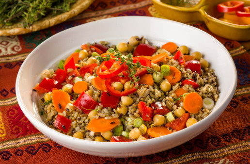 Easy Garbanzo Bean and Rice Salad