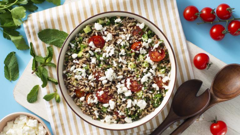 Mediterranean-Style Rice and Quinoa Salad