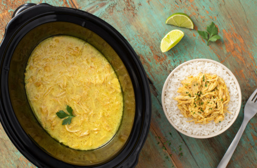 Slow-cooker Chicken and Curry Rice Bowls