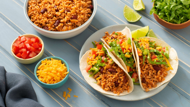 Easy Chicken and Rice Tacos