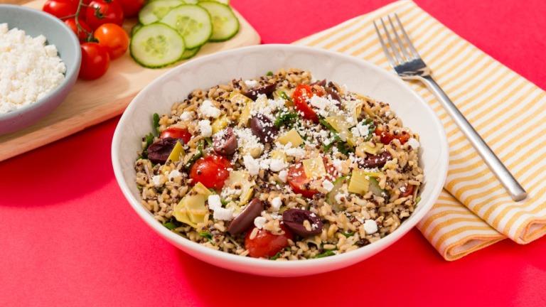 Mediterranean Rice Salad with Quinoa