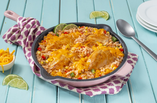 mexican-rice-dinner-with-chicken-and-cheese