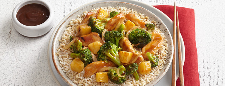 Chicken, Broccoli and Pineapple Stir-Fry