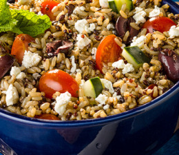Mediterranean Style Rice and Quinoa Salad