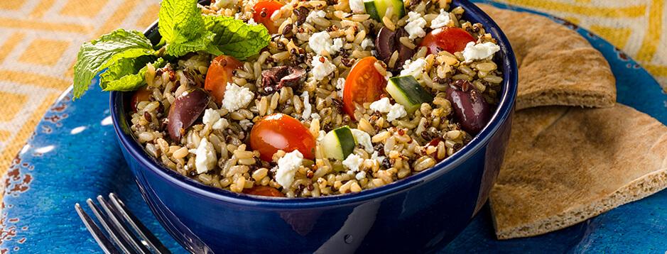 Mediterranean Style Rice and Quinoa Salad
