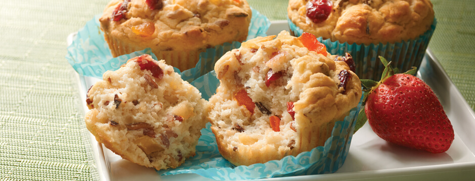 Rice and Quinoa Fruit Muffins
