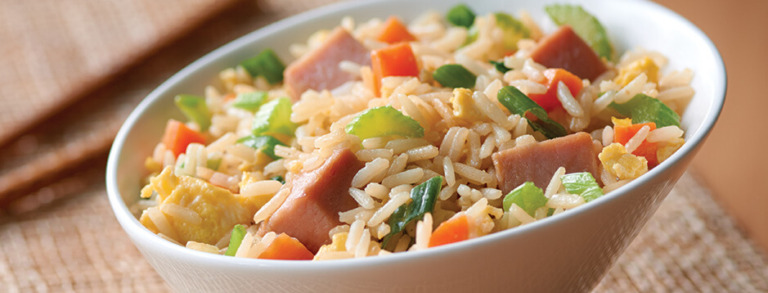 Speedy Ham Fried Rice