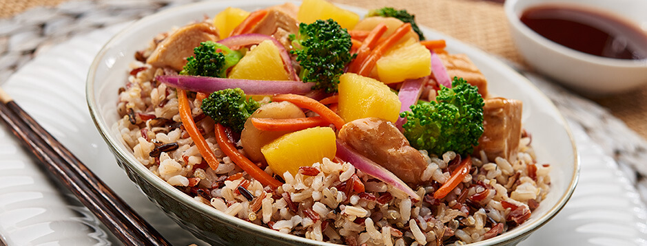 Chicken & Vegetable Stir-Fry with Rice and Quinoa