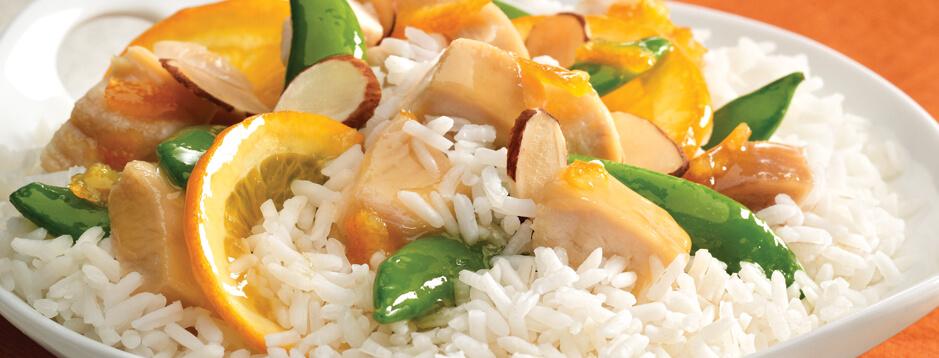 Yummy Orange Chicken and Rice