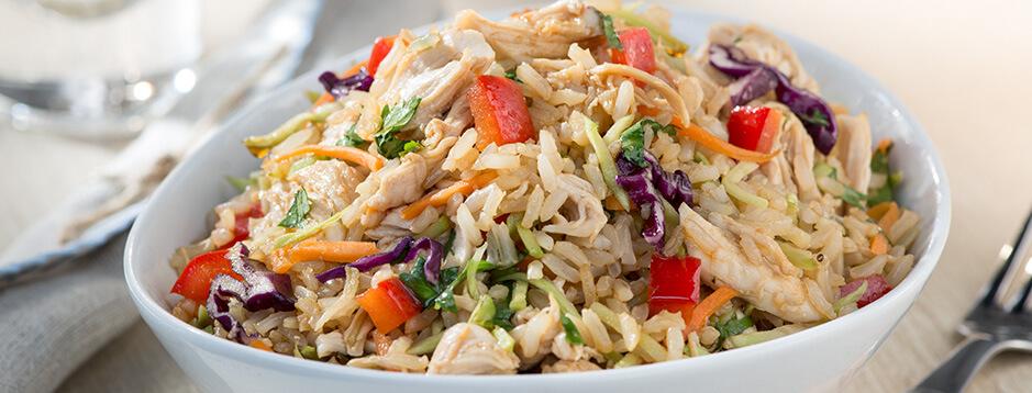 Zesty Asian Chicken Rice Salad