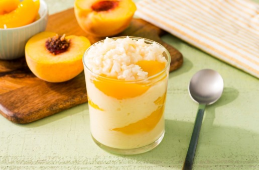 easy-rice-pudding-recipe-with-peaches-and-jasmine-rice