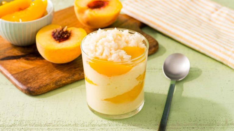 Peachy Rice Pudding