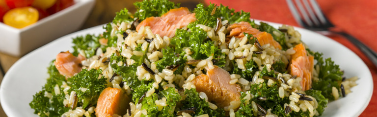Quick Kale Salad with Smoked Salmon
