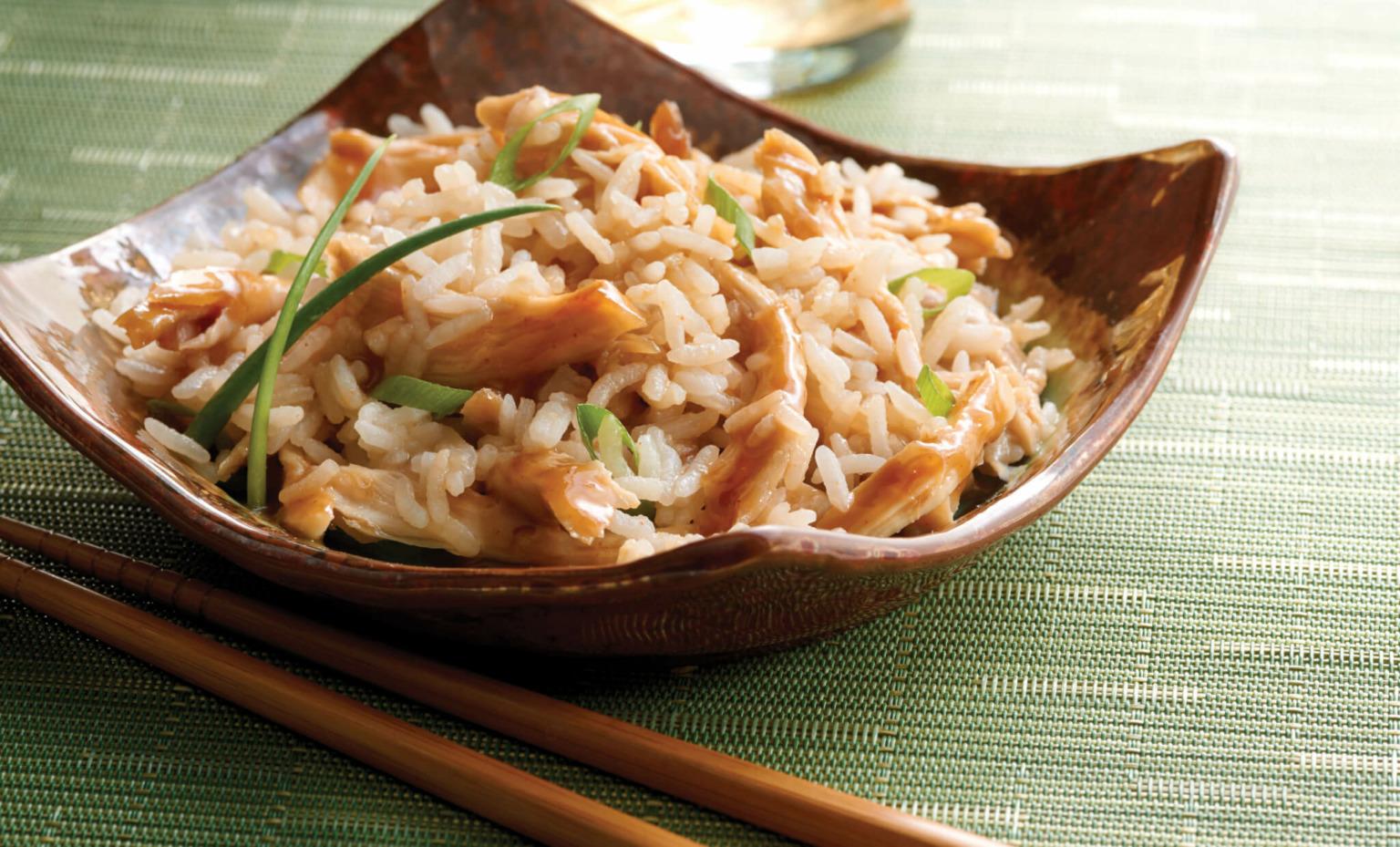 Thai Peanut Chicken with Jasmine Rice