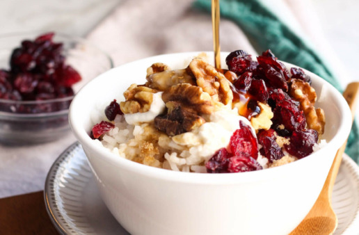 Maple Walnut Rice Breakfast Bowl