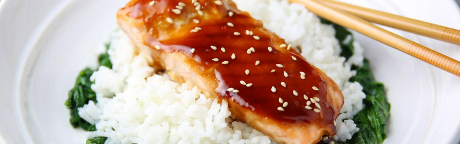 Asian Salmon Rice Bowls