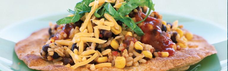 Black Beans and Rice Tostadas