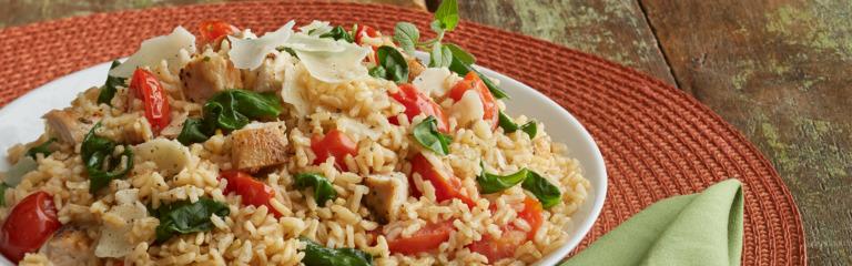 Chicken and Spinach Rice Florentine