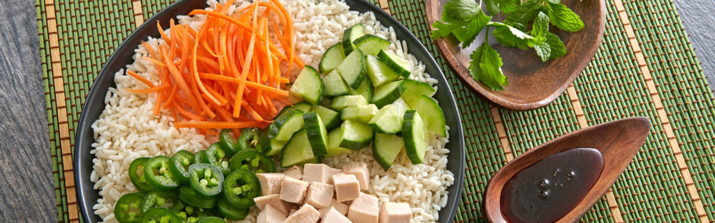 Chicken Banh Mi Style Rice Bowl