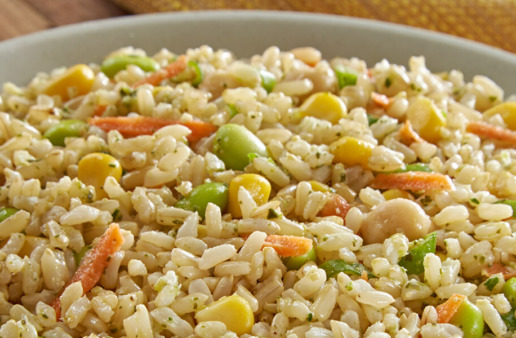 Corn and Edamame Rice Salad
