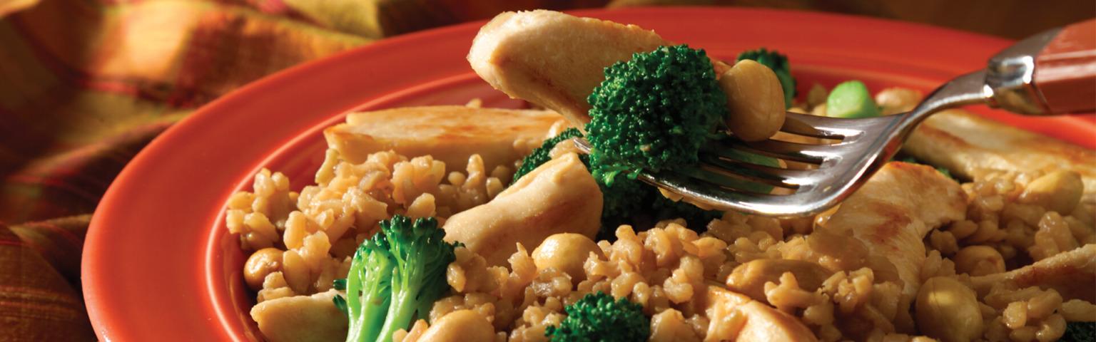 Easy Teriyaki Chicken and Brown Rice Dinner