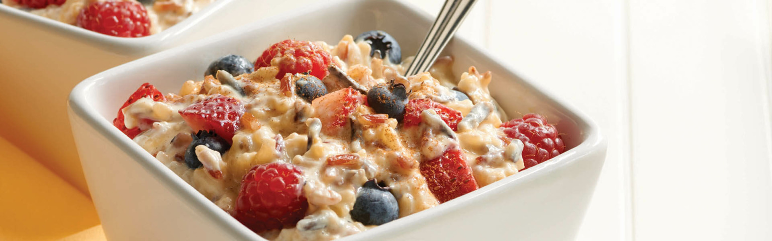 Four Grains, Berries and Yogurt with Quinoa