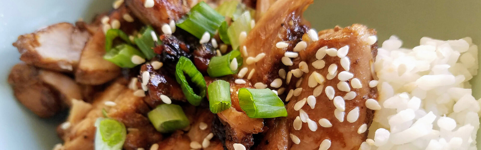 Jasmine Rice with Ginger Soy Chicken