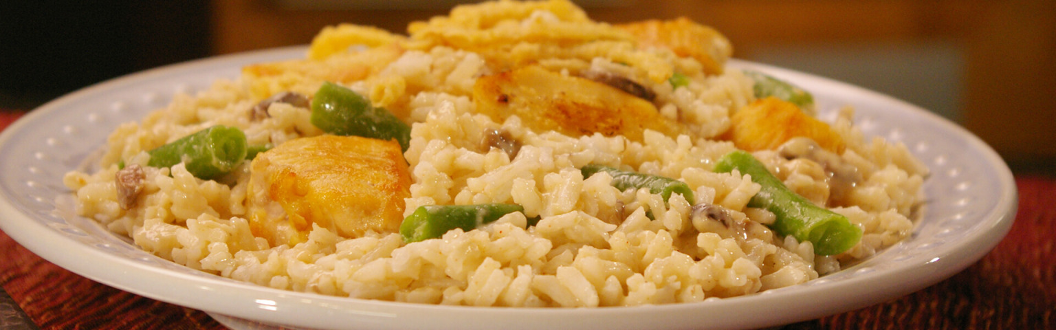 Green Bean, Chicken and Rice Dinner