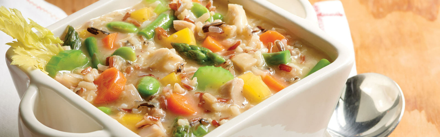Homestyle Four Grain and Chicken Soup