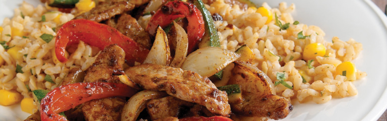 Mexican Pork with Vegetable Rice