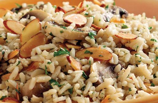 Mushroom brown Rice Pilaf