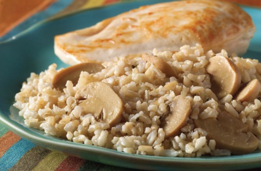 Mushroom Risotto with chicken and brown rice