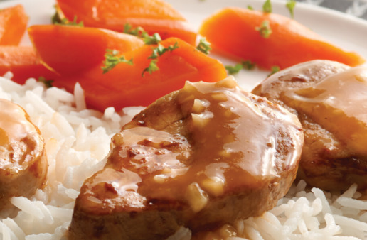 Pork Medallions with Apricot Glaze
