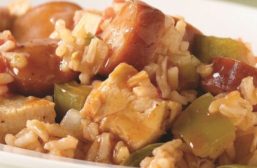 Quick Chicken and Rice Jambalaya