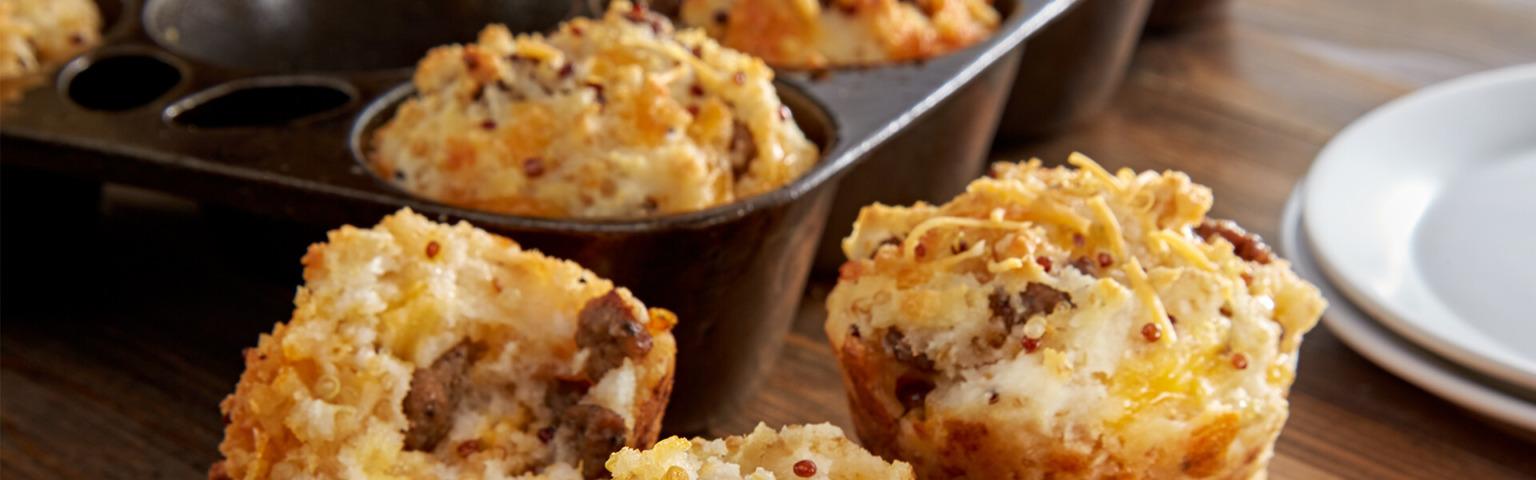Quinoa and Sausage Breakfast Muffins